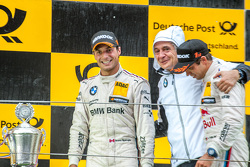Podium: Bruno Spengler, BMW Team MTEK and BMW Team Schnitzer team boss Charly Lamm and winner Antonio Felix da Costa, BMW Team Schnitzer BMW M4 DTM