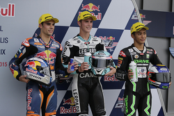 Moto3 polesitter Danny Kent, second place Miguel Oliveira, third place Zulfahmi Khairuddin