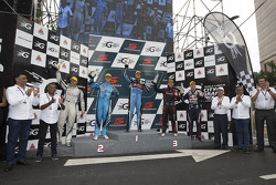 Podium: winner Chaz Mostert, Prodrive Racing Australia Ford. second place Scott McLaughlin, Garry Rogers Motorsport, third place Todd Kelly, Nissan Motorsports