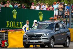 Marcus Ericsson, Sauber F1 Team crashed in the second practice session