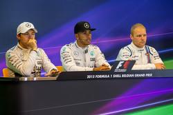 The FIA Press Conference,: Nico Rosberg, Mercedes AMG F1; Lewis Hamilton, Mercedes AMG F1; Valtteri Bottas, Williams