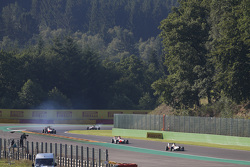 Alex Palou, Campos Racing leads Esteban Ocon, ART Grand Prix & Alfonso Celis Jr., ART Grand Prix