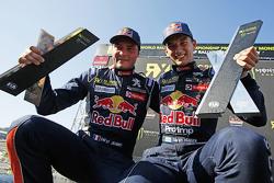 Winner Timmy Hansen, Team Peugeot Hansen, second place Davy Jeanney, Team Peugeot Hansen