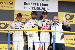 Podium: 2nd Bruno Spengler, BMW Team MTEK BMW M4 DTM, 1st Timo Glock, BMW Team MTEK BMW M3 DTM, 3rd Antonio Felix da Costa, BMW Team Schnitzer BMW M4 DTM, Ernest Knoors, BMW Team MTEK