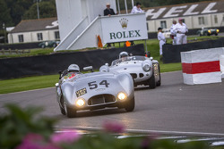 A Cooper-Jaguar T33 from 1954 exits the Chicane during the Freddie March Memorial Trophy