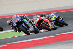 Jorge Lorenzo, Yamaha Factory Racing and Marc Marquez, Repsol Honda Team and Valentino Rossi, Yamaha Factory Racing