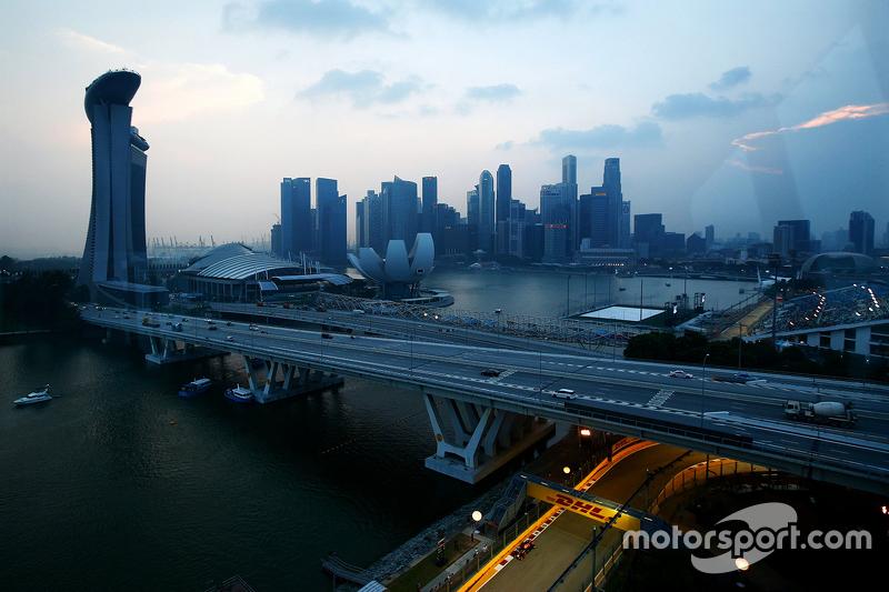 Ambiente circuito de Singapur
