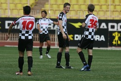 Star Team for Children VS National Team Drivers, Charity Football Match, Louis II StadiumAlbert II: Giancarlo Fisichella, Renault F1 Team, Felipe Massa, Scuderia Ferrari, Sebastian Vettel, Test Driver, BMW Sauber F1 Team and Maro Engel, British F3 Driver