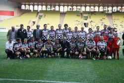 Star Team for Children VS National Team Drivers, Charity Football Match, Louis II StadiumAlbert II: Race drivers group picture