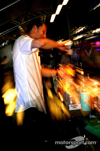 The Red Bull Energy Station: the barkeeper