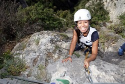 Formula Unas girls in a mountain climbing expedition: Paola Ramirez