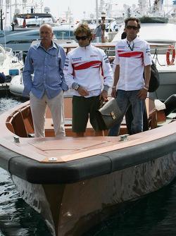Jarno Trulli, Toyota Racing and Franck Montagny, Test Driver, Toyota F1 Team