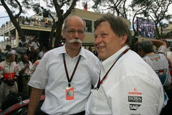 Dr. Dieter Zetsche, Chairman of Daimler with Norbert Haug, Mercedes, Motorsport chief