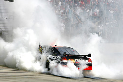 Race winner Martin Truex Jr. celebrates