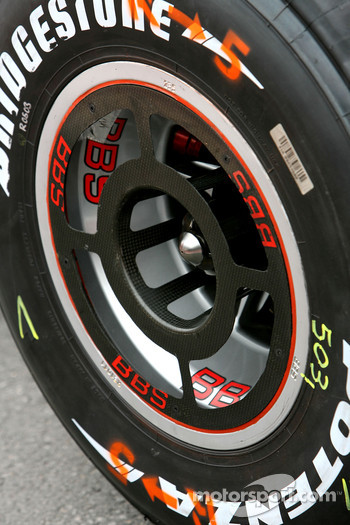 Scuderia Ferrari rear wheel