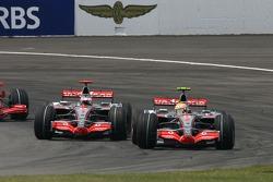 Lewis Hamilton, McLaren Mercedes, MP4-22 and Fernando Alonso, McLaren Mercedes