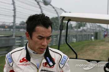 Takuma Sato, Super Aguri F1 retired from the race