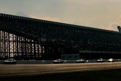 The field runs down the frontstretch