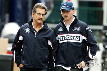 Robert Kubica, BMW Sauber F1 Team, Dr. Mario Theissen, BMW Motorsport Director