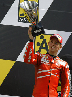 Podium: second place Casey Stoner