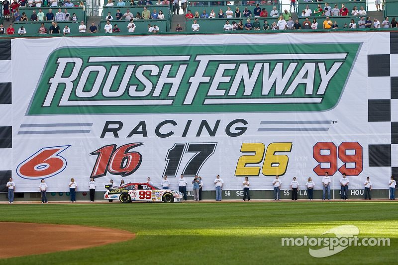 Roush Fenway Racing day at Fenway Park in Boston