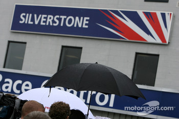 Umbrella's up at Silverstone
