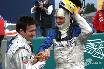 Nicolas Minassian is congratulated by Jean-Marc Gounon