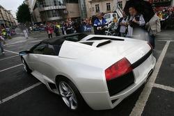 Supercars parade: a Lamborghini Murciélago LP640 Roadster