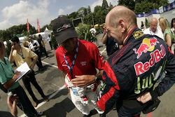 Emanuele Pirro and Adrian Newey