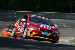 #225 Team DMV Honda Civic Type-R: Mark Giesbrecht, Hans Keutmann, Dino Drössiger, Spencer Trenery