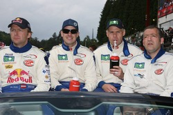 Joe Macari, Ben Aucott, Philipp Peter and Marino Franchitti