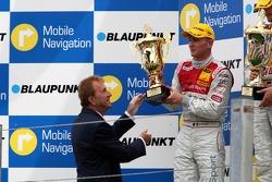 Podium: Alexandre Premat, Audi Sport Team Phoenix, Audi A4 DTM receives the trophy from COO of Zandvoort Circuit, Hans Ernst