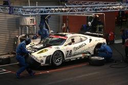 Pitstop for #78 JMB Racing Ferrari 430 GT2: Charles de Pauw, Alain van den Hove, Didier De Radigues, Paul Belmondo