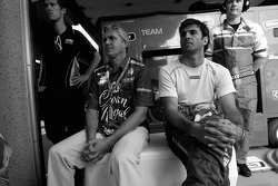 Eddie Cheever and Christian Fittipaldi watch the race