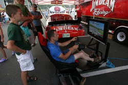 A racing sim at the Watkins Glen fan fest