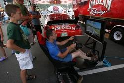 A racing sim at the Watkins Glen fan fest