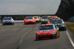 Jeff Gordon leads the field on the first lap
