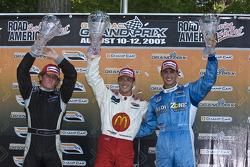 Podium: race winner Sébastien Bourdais, second place Dan Clarke, third place Graham Rahal