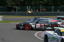 #59 Team Modena Aston Martin DBR9: Antonio Garcia, Christian Fittipaldi gets it all sideways in les Combes