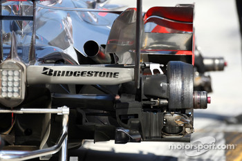 McLaren Mercedes, MP4-22, Brake system detail