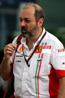Gilles Simon in 2007, Head of Engine Department at Scuderia Ferrari
