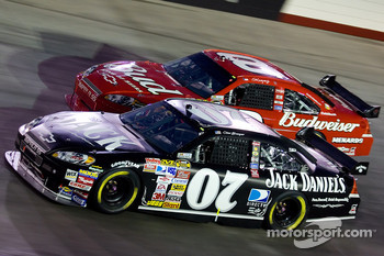 Clint Bowyer and Dale Earnhardt Jr. battle