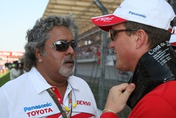 Dr V J Mallya, Chairman & Managing Director, Kingfisher and Ralf Schumacher, Toyota Racing
