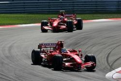 Felipe Massa, Scuderia Ferrari, F2007, Kimi Raikkonen, Scuderia Ferrari, F2007