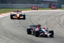 Sebastian Vettel, Scuderia Toro Rosso, STR02 , Adrian Sutil, Spyker F1 Team, F8-VII-B