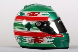 Khalil Beschir, driver of A1 Team Lebanon, helmet