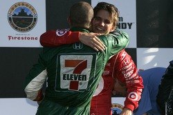 Podium: Tony Kanaan and Dan Wheldon