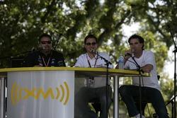 Michael Andretti and Bryan Herta at the XM Satellite Radio stage