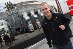 Sebastian Vettel, Scuderia Toro Rosso arrives in the paddock