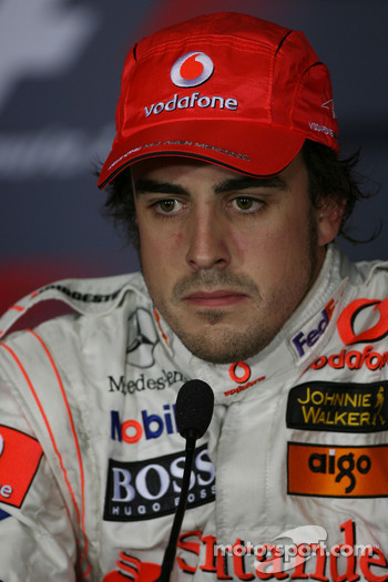 FIA press conference: pole winner Fernando Alonso